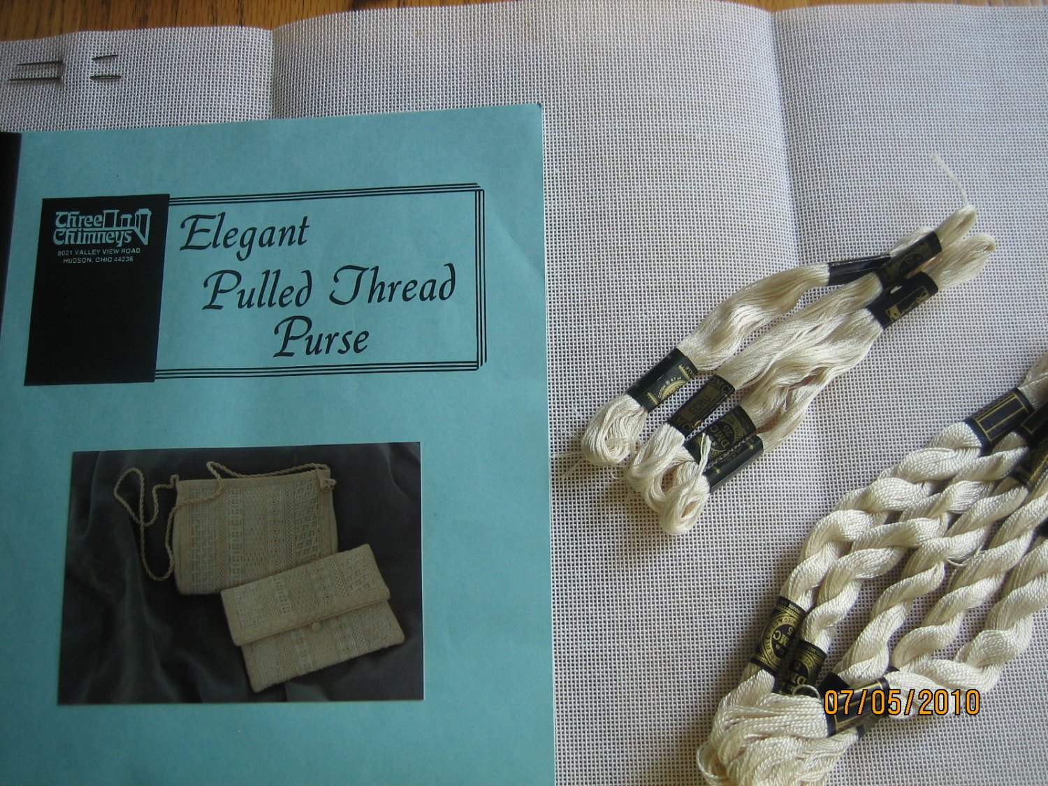 Needlepoint Kit for Pulled Thread Purse, Jeanne Thomas Howard Free Shipping