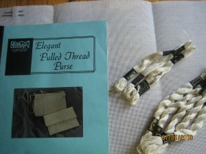 Needlepoint Kit for Pulled Thread Purse, Jeanne Thomas Howard