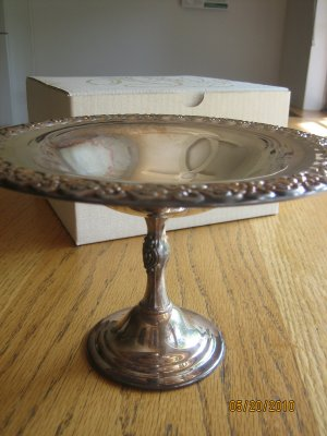Silverplate Compote from Marshall Field�s Original Gift Box