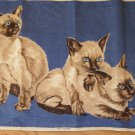 Siamese Cats Irish Linen Tea Towel Sort of Menacing