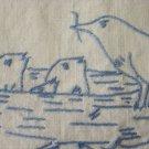 Pair Vintage German Bluework Overtowels Angels Birds Free Shipping