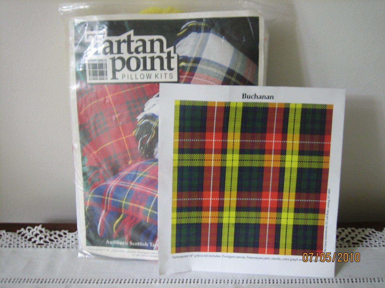 Tartanpoint Pillow Kit Tartan Needlepoint for Clan Buchanan Free Shipping