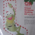Vintage Kermit The Frog Crewel Christmas Stocking Kit Columbia Minerva Free Ship