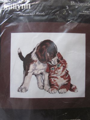 Janlynn Embroidery Kit First Love Puppy and Kitty Unopened