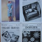 Lot of 4 1938 Booklets, Spool Cotton Co, Crochet Fashions Doilies More, Free Shipping