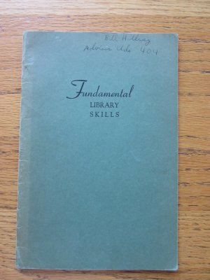 Fundamental Library Skills, New Trier High School, 1950 Booklet