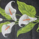 Needlepoint Canvas Calla Lilies on Black Background