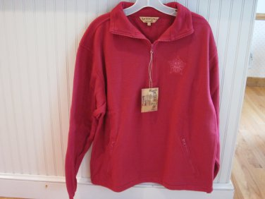 Men�s Fleece Red Large Chicago Police Logo New