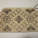 Vintage Beaded Evening Bag Back Hand Strap Czechoslovakia , Free Ship