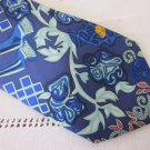 Hermes Tie Blue Art De Steppes By Annie Faivre Free Shipping