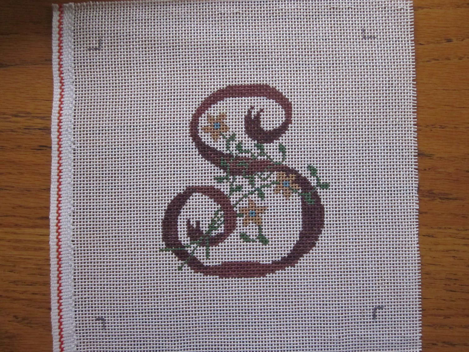 Needlepoint Canvas Letter S Free Shipping