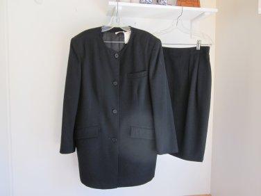 Sonia Rykiel Inscription 1989 Black Skirt Suit