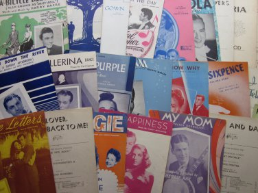 Lot 45 Pieces Vintage Sheet Music Most 30s to 50s