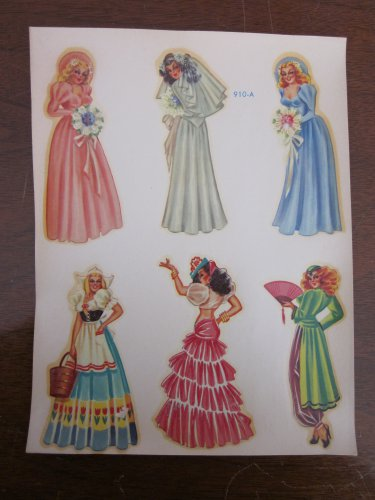 Duplex Nudie Pinup Bride Bridesmaids Decals for Glasses  910-A