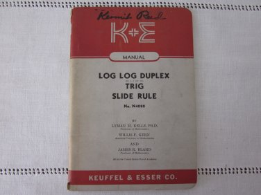 Kermit Reed�s Log Log Duplex Decitrig Slide Rule Manual