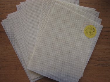 10 Pieces Darice 14 Mesh Blank Plastic Canvas Beige