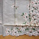 Burmel Hanky with Sticker Dogwoods on Grey