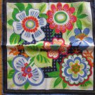 Fisba-Stoffels Abstract Floral Print Hanky Free Shipping