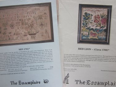 Lot Red Lion Picture and MEF Sampler from The Essamplaire Free Ship