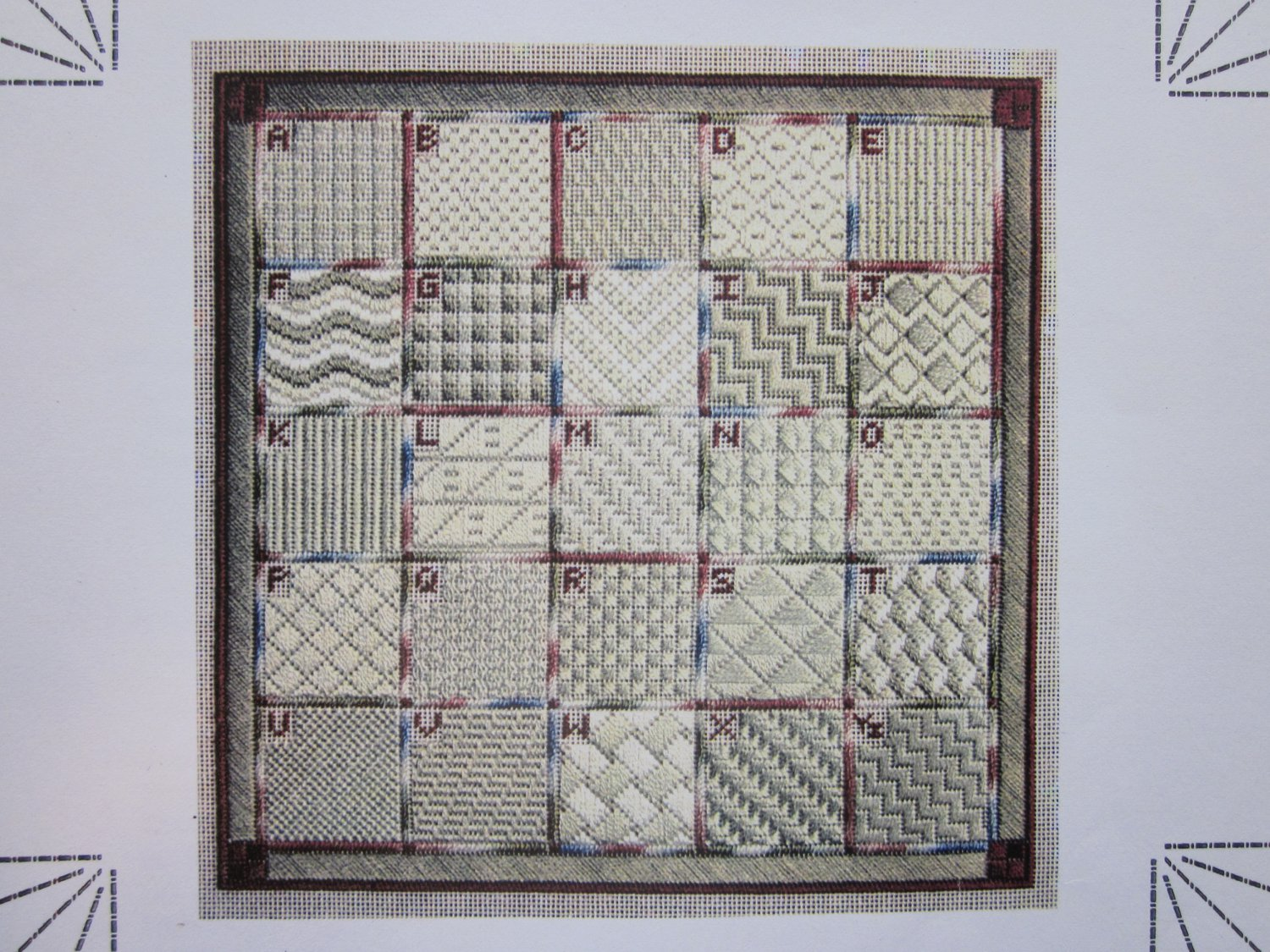CANVAS STITCH SAMPLER Charted Book by Light House Designs Free Ship