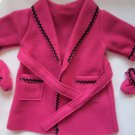 Genuine American Girl Bathrobe and Slippers Free Shipping