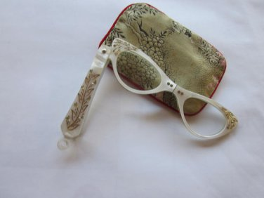 40s 50s Folding Magnifier Glasses in Case, Free Shipping