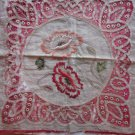 Antique Vintage Needlework Pillow Front, Poppies Design Free Shipping