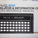 Craig M 100 M100 Translator Information Center German Italian French Free Shipping