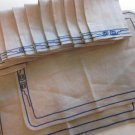12 Linen Napkins 2 Placemats from Greece, Greige Free Shipping