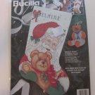 Bucilla Christmas Cats Stocking SANTA'S FURRY FRIENDS Kit83222 Cross Stitch New