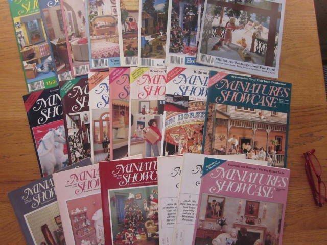 21 Issues of Miniatures Showcase Dollhouse Magazines 1986 thru 1991