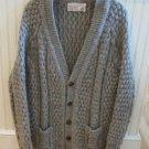 Slieve League Irish Fisherman Cardigan Sweater Button Front Size 44 / Large