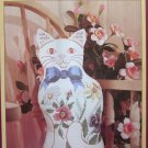The Purrr-Fect Cat 1984 Sunset Stamped Cross Stitch Free Shipping
