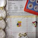 Lot Mary Maxim Wreath Ornaments, Christmas Stitchin' XS Leaflet 197, Aida Fabric Free Ship