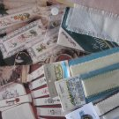 2 Booklets Cross Stitch Patterns and Aida, Ribband for16 Bookmarks, Free Shipping