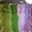 Paternayan Needlepoint Yarn Skeins in Greens and Purples 15 oz
