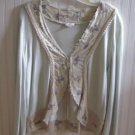 J Jill Limited Edition RE Crafted, Created, Imagined Silk Sweater Size Large Free Ship