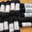 Elsa Williams Needlepoint Yarn 15 Skeins Black + Partials