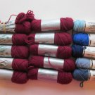 Elsa Williams Needlepoint/Tapestry Yarn Red and Blues 14 skeins