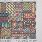 Sampler I Needlepoint  Chart in Cross Stitch