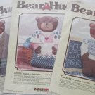 Set of 3 Bear Hugs Dimensions Needlepoint Canvases Chester, Emma, Theodore
