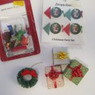 Lot Dollhouse Christmas Items – Wrapped Gifts, Party Set, Wreath, Manger Set