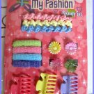 Girl Beauty Hair Accessories Set - Colorful Ponytail Holder Flower Hair Clip Claw