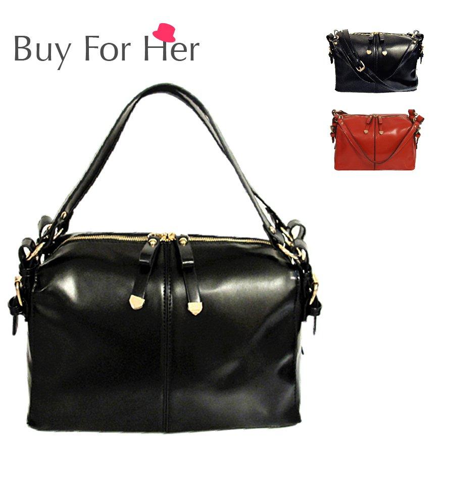 Free Ship 2-Color Women Handbag Satchel Messenger Strap Cross Body Shoulder Bag Tote Shopper Purse
