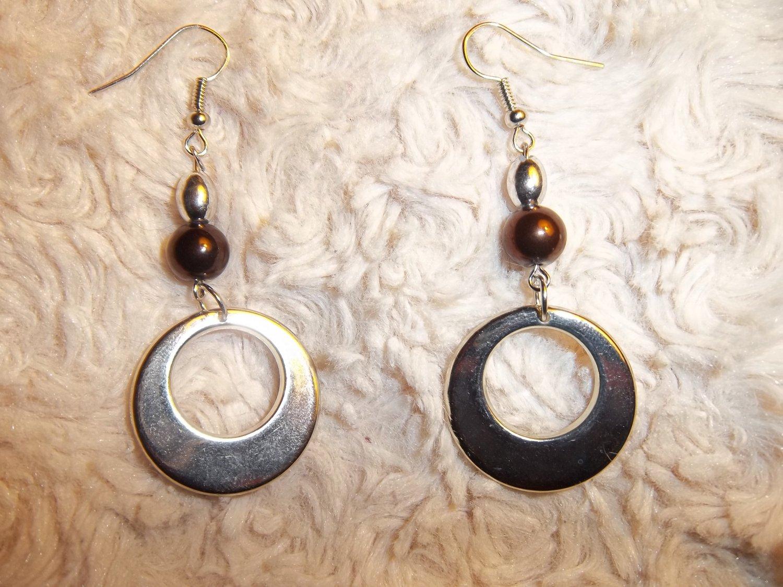 Metallic Hoop Earrings