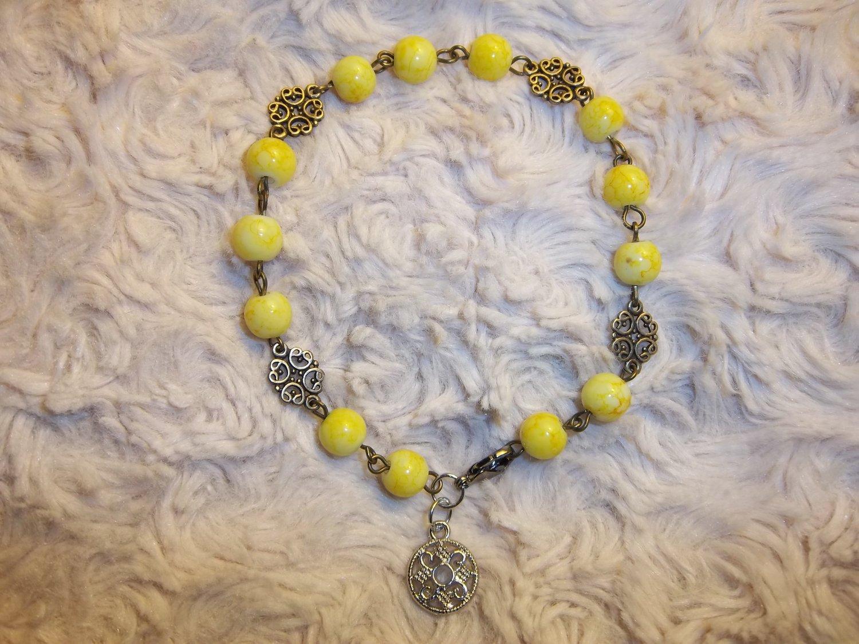 Lemon Medallion Charm
