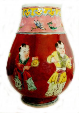 CHINESE HANDPAINTED VASE