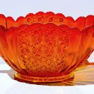 Pressed Glass Amberina Scallopped Edge Bowl - Viking?