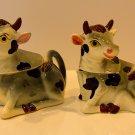 Vintage Japan Cow Creamer & Suger Salt & Pepper