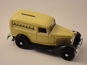 1932 JC Penney Ford Delivery Van Bank- ERTL Replica c.1985